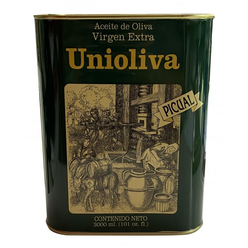 UNIOLIVA ACEITE DE OLIVA VIRGEN EXTRA 3 L lata